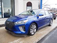 This Intense Blue 2019 Hyundai Ioniq Hybrid Limited