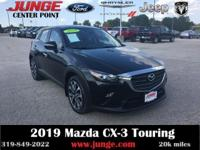Black 2019 Mazda CX-3 Touring AWD 6-Speed Automatic