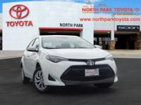 2019 Toyota Corolla LE 36/28 Highway/City MPGEmail us