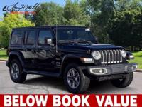 Clean CARFAX. Black Clearcoat 2020 Jeep Wrangler