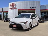 CARFAX 1-OWNER! This Super White 2020 Toyota Corolla LE