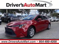 CARFAX One-Owner. Red 2020 Toyota Corolla LE FWD CVT