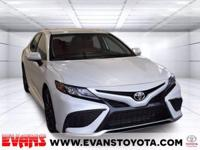 CARFAX One-Owner. 2021 Toyota Camry XSE WHITE FWD 2.5L