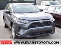 CARFAX One-Owner. 2021 Toyota RAV4 LE GRAY AWD 2.5L