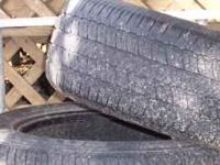 Have two used Bridgestone tires- 205/55/R16 with around