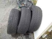 i got three 205/65 R15 tires 75 $ call . the tread is