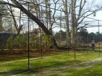 Baseball softball batting cage netting 10x10x30 ft.