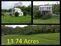 13.73 acres. UNRESTRICTED. BRING YOUR HORSES AND