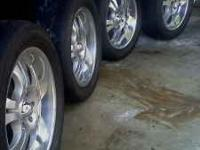 "hi im selling my set of four 20"" BOSS rims, tires"