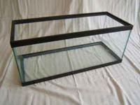 20 gallon long fish tank - basic black frame tank -