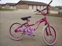 "20"" girls bike - works well 2 - 16"" boys bikes. They"