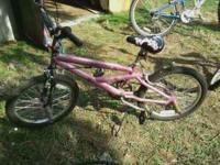 20 in girls mongoose bike pink in color can call cell