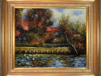 Hand painted oil reproduction of a famous Renoir
