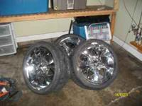 20 inch chrome rims in good condition....needs new