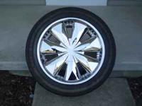 "20"" Wheels & Tires. The wheels are Ferretti Chrome."