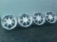 "I have a set of four 20""x8.5"" crome wheels made by"