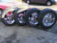 Nice 20 inch Incubus wheels, 6 Hole, Came off of Tahoe,