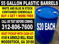 PLASTIC rain barrel barrels water drum drums 55 gallon