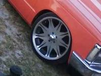 20' inch rims with two good tires and two bad