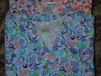 Scrub Tops in excellent condition. Soft cotton, freshly