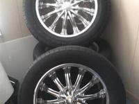 "Set of Four, New they are 1200.00 20""BENTCHI B15 CHROME"