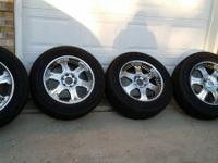 "Set of 20"" inch rims used with P 275/60/20 Goodyear"