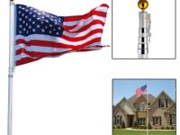 This is our brand new 20'Aluminum Telescoping Flagpole.