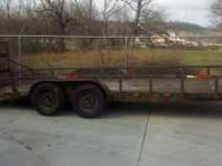 20ft Dove tail Tandem axle New lights Single brake Wood