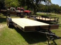 "New 6'10"" X 20 Equipment Trailer 6ft 10 inches between"