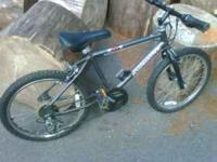 Looking to sell a boys grey Huffy ZX-1 mountain bike.