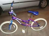 20in. Girls bike in excellent condition. Hand brake and