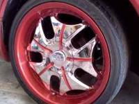 Hi I'm selling these set of 20in 5 Lugs chrome rims.