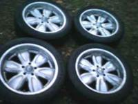nice shiny crome rims,,less than 1 year old,bought new