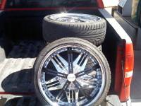 i have four 20 inch divinity rims with removable black