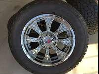 This is a brand new set of chrome 20inch Worx wheels.