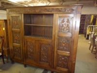 A 20th Century Jacobean Style Bookcase: Height: 74