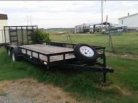 20x7 dual axle trailer custom built haul tractor and