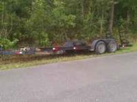 7x20 flatbed trailer with tandem 3500 break drop axles