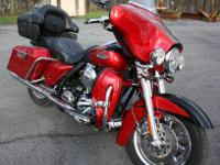 2007 Screamin' Eagle CVO Ultra Classic. Always garage