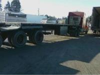 1992 53' Alloy1992 53' Alloy 3 Axle Flat Bed SteelWood