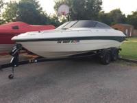 Please call owner William at . Boat is in Rush Springs,