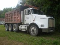 1999 kenworth t-800 tri axle dump; used daily along