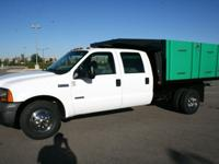2005 FORD F350 CREW CAB CONTRACTOR DUMP TRUCK.10ft.