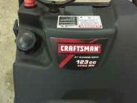 "For sale 21"" Craftsman 123cc snowblower like new. I got"