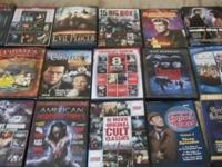 Selling 21 DVD's. There are several that each have 8-10