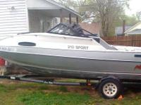 21 Ft Avalon Galaxy Boat goes about 50mph. Used it for