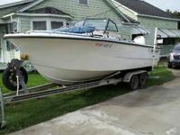 1986 21 ft Proline, 225 Johnson Oceanrunner, and