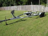 Tandem axle boat trailer for 20'-21' boats. Good tires,