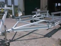 OUR TRAILERS ARE BUILT ADJUSTABLE TO FIT YOUR BOAT. ANY