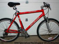 for sale is a 1998 Specialized Rockhopper A1 FS 90's